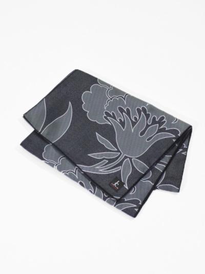 コンポジション兵児帯 洋花シルエット(黒)