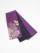 半巾帯0141-01本麻(枝花・紫×黒)ポイント