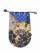 合切袋 洋花シルエット(ブルー)