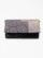 二つ折クラッチ 縞ボタン バイカラー ピンク×白金 (クロ)