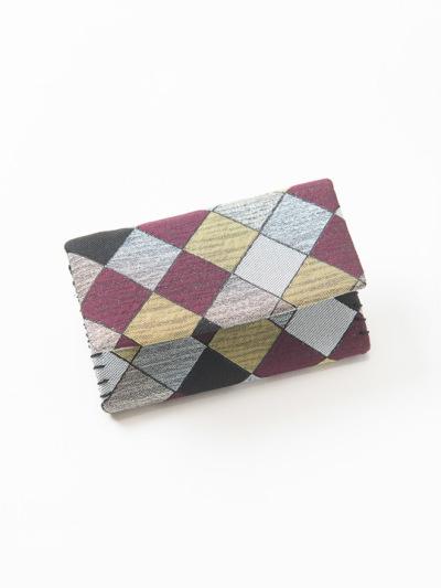 カードケース 市松モザイク (エンジ)