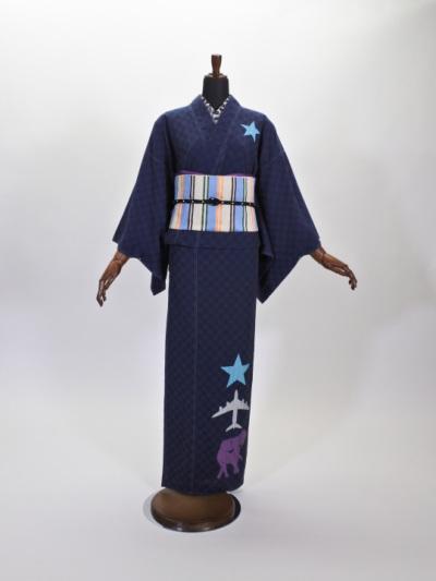 レディース ドットドビー 星・飛行機・象(コン)F