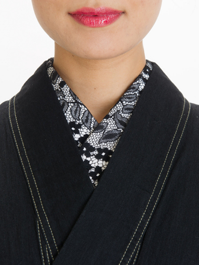 半衿レースJ(黒)