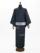 メンズデニム 6.5OZ ボーダー・刺繍星(BU×金茶)