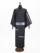 メンズデニム 6.5OZ ボーダー・刺繍星(BK×金茶)