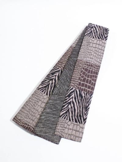 織角帯0053-05ゼブラ×クロコ(ベージュ×黒)