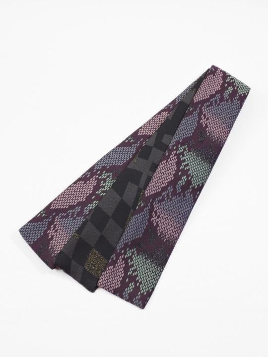 角帯0047-07 パイソン(紫×グリーン×ピンク)
