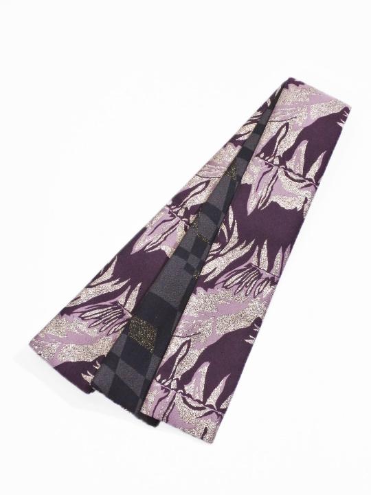 織角帯0232-01 メタミラー(紫系)