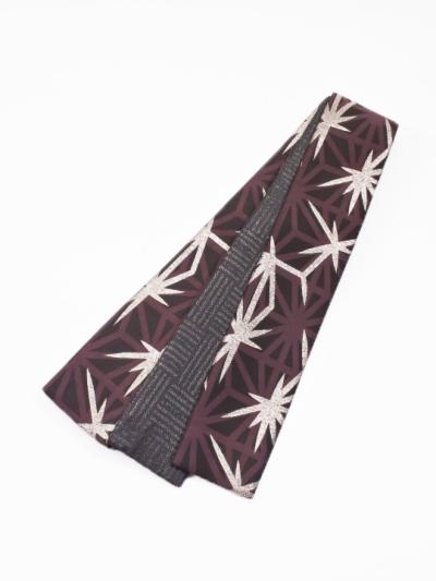 織角帯0167-09 麻の葉柄(赤紫系)