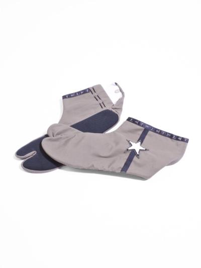 足袋 ☆サガラ刺繍 (カーキ×黒)