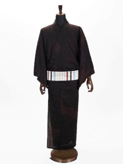 浴衣・上太郎19-08 縞ボタン (プレタ)メンズ