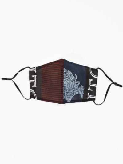 JOTARO マスク 縞ボタン菊 B