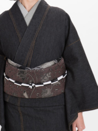OJ18-23-04帯締め 市松小田巻・白×黒