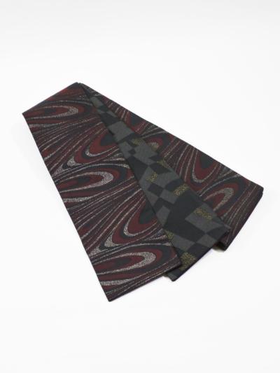 半巾帯0117-05 マーブル柄(ボルドー系)