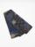 半巾帯0109-04 宇宙柄(黒×ターコイズ)