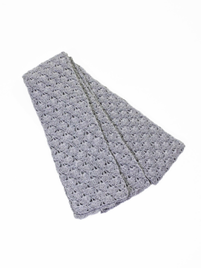 和紙半巾帯 (グレー)