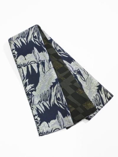 半巾帯0166-02 メタミラー(紺系)