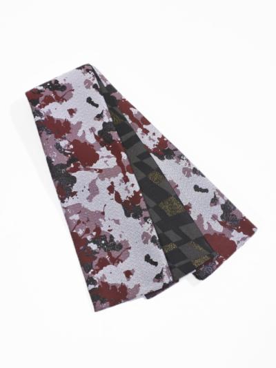 半巾帯0167-02 スプレーカラー(赤×グレー)