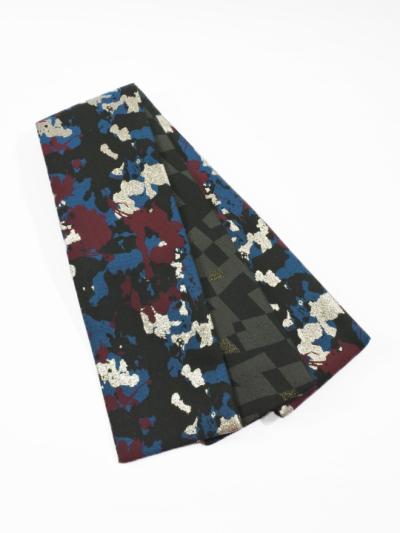 半巾帯0167-03 スプレーカラー(紫×黒)