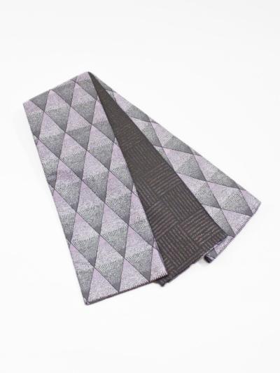 半巾帯0147-04 トライアングルスパーク(ピンクグレー系)