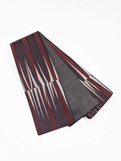半巾帯0154-03 ブラウジング(赤系)