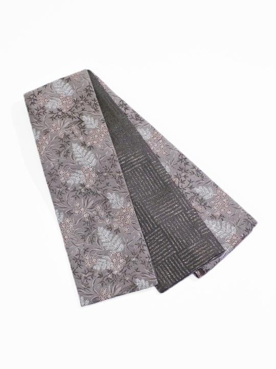 半巾帯0176-01 草小花(ピンクグレー)