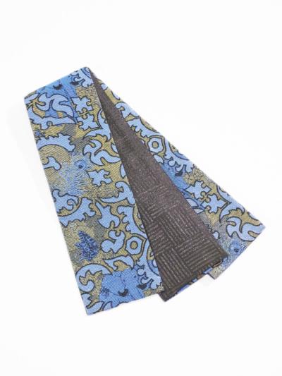 半巾帯0174-04 刺青-象(ブルー系)
