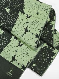 帯揚げ シルエット花詰(黄緑)
