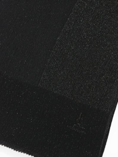 帯揚げ 半面銀通し(黒)