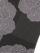 帯揚げ 半面銀通し 縞ボタン(チャコール×紫)