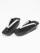 レディース草履 縞ボタン(チャコール×黒シボ×黒)