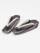 レディース草履 縞ボタン(白金×グレーメタ×ブロンズ)